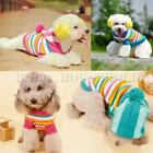 Pet Dog Puppy Apparel Clothes Clothing Winter Warm Stripe Weave Sweater Coat