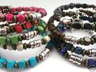 ETHNIC INSPIRED MEN WOMENS BLACK BROWN NAVY PURPLE BLUE GREEN RED CREAM BRACELET