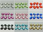 100 Flatback Acrylic Oval Rhinestone Button 13X18mm Sew on beads Pick Your Color