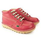 Brand New Junior Girls Kickers Kick Hi Blossom Leather Boots