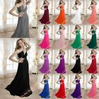 Sexy Long Christmas Chiffon Beaded Prom Evening Party Bridesmaid Dress size 6-26