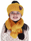 Cute Boys Girls Baby Kid Toddler Warm Winter Knitted Cap+Scarf Set