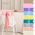LiNg's Satin Chair Cover Sash Bows Wedding Bridal Party Decoration 100/150 pcs