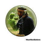 Jim Hensen and Kermit Pin Button Badge Fridge Magnet (The Muppet Show)