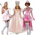 GLINDA THE GOOD WITCH WIZARD OF OZ  LADIES FANCY DRESS COSTUMES SIZE XS-XXL