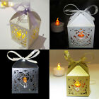 24x LED TEA LIGHT TEALIGHT WEDDING CANDLE HOLDERS LANTERNS PARTY WHITE HEART
