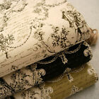 Vintage Chic Renaissance Dancers Scripts Roses Linen Look 100% Cotton Fabric FQ