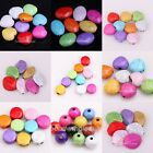Round/Heart/Oval Shapes Mixed Color Imitation Cracked Turquoise Spacer Beads