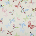 Butterfly Vintage Multi Colour Floral PVC Wipeclean Vinyl Oilcloth Tablecloth