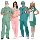 DOCTOR & NURSE WOMENS & MENS MEDICAL EMERGENCY FANCY DRESS COSTUMES SIZES XS-XL
