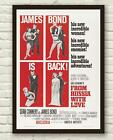 Vintage James Bond From Russia With Love Movie Film Poster Print Picture A3 A4 £3.94 GBP