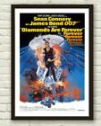 Vintage James Bond Diamonds Are Forever Movie Film Poster Print Picture A3 A4 £3.94 GBP