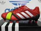 NEW ADIDAS Nitrocharge 1.0 TRX FG Men's Soccer Cleats - Red/White; Q33666