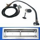 """Complete Fire Pit Burner Kit Linear Trough Stainless Steel 18"""" 24"""" 30"""" 36"""" LP NG"""