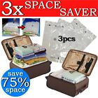 Large Vacuum Storage Bags Zip Seal Compressed Travel Clothes Bedding Space Saver