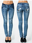 Voi Ladies Ski Jeans Mid Blue - Denim Skinny Detail Womens New - All Sizes