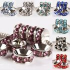 Wholesale Crystal Rhinestone One Row Wheel Charms European Bar Bead Fit Bracelet