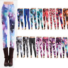 Chic Women Galaxy Printed Stretch Leggings Skinny Pants Footless Tights