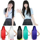 New Halloween Long Anime Wigs Cosplay Party Wigs Full Straight Womens Wigs