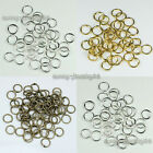 Wholesale! 2000pcs 3,4,5,6,7,8,9mm Metal Open Jump Rings Silver/Gold/Bronze Plt