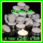 White Unscented 4 Hour Tealight Candles 100 or 200 or 300 pk For Party & Wedding
