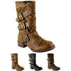 WOMENS BLOWFISH KASBAH MID CALF BUCKLE BOOTS FLATS BOOTIES 3 COLOURS LADIES 3-8
