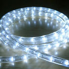 WHITE LED ROPE LIGHT OUTDOOR LIGHTS CHASING STATIC CHRISTMAS XMAS GARDENS HOMES