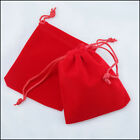 "Внешний вид - lot of 25 50 100 Red 3""x 4"" Jewelry Pouches Velvet Gift Bags Wedding Favors"