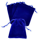 "Внешний вид - lot of 25 50 100 Blue 5""x 7"" Jewelry Pouches Velvet Gift Bags Wedding Favors"