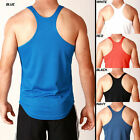Mens 3 PACK! Y-BACK Sport DRY FIT Poly Gym Training Singlet Weight Stringer Tank