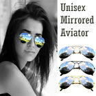 Fashion Unisex Aviator Sunglasses Mirrored Design Reflective Lens Shade Designer