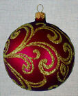 "Needlepoint canvas ""Christmas Ornament Red and Gold"""