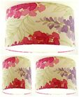 Lampshade Handmade with Laura Ashley Marissa Cerise Floral Wallpaper MANY SIZES