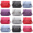 Ladies Polka Dot Large Medium Vintage Work Briefcase School Satchel Shoulder Bag