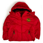 Childrens Levis Dark Red Quilted Hooded Parka Jacket