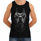 Mens Doberman New Fashion Women T-Shirt Tank Funny Dog Trend Tartan Glasses *th3