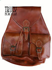 Vintage Style Moroccan Hand-made Genuine Leather Rucksack Backpack medium+large