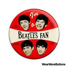 Official Beatles Fan Pin Button Badge Fridge Magnet (Sixties Reproduction)