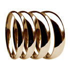 9ct Red Rose Gold Wedding Rings Court Heavy 2mm 3mm 4mm 5mm 6mm 8mm UK HM Bands