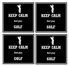 KEEP CALM & PLAY GOLF - COASTERS - SET OF FUN COASTERS - GIFT - BRAND NEW