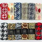 New Cosy Fleece Blanket Throw Bed Throw Sofa Bed Chair Blankets-Choice of Design