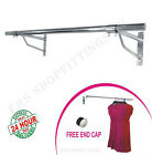 Garment clothes rail wall mounted hanging rail shop display 4ft 5ft 6ft Tubing