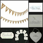 Wedding Decoration Venue Dressing Ceramic,Paper,Hessian,Wooden Bunting/Signs
