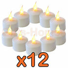 FLICKERING LED TEA LIGHTS CANDLES LIGHT DECORATION PARTIES BATTERY OPERATED
