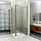 760 Pivot Shower Door Side Panel & Stone Tray Enclosure Cubical Easy Clean Glass