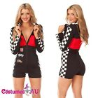 Miss Racer Racing Sport Driver Costume Super Car Grid Girl Fancy Dress Outfit