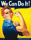 Vintage Military W.W.2.Rosie the Riveter  Reproduction Poster A3 & A2 Size