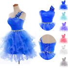 New Organza Evening Party Prom Ball Gown Wedding Bridesmaid Cocktail Short Dress