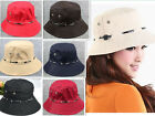 Unisex Lady Men Summer Bucket Beach Sun Hat Fishing Hiking Safari Foldable Cap