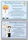 Personalised 1st First Holy Communion Invitations Boy x10